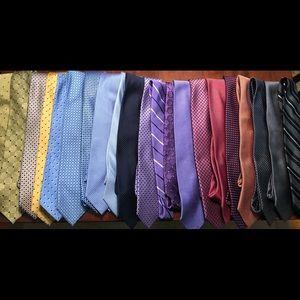 Lot (20) of Premium Designer Men's Neckties